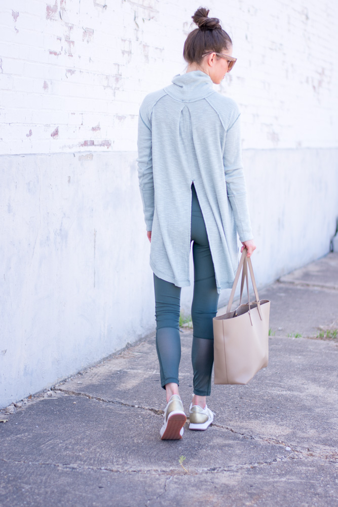 green athleisure outfit