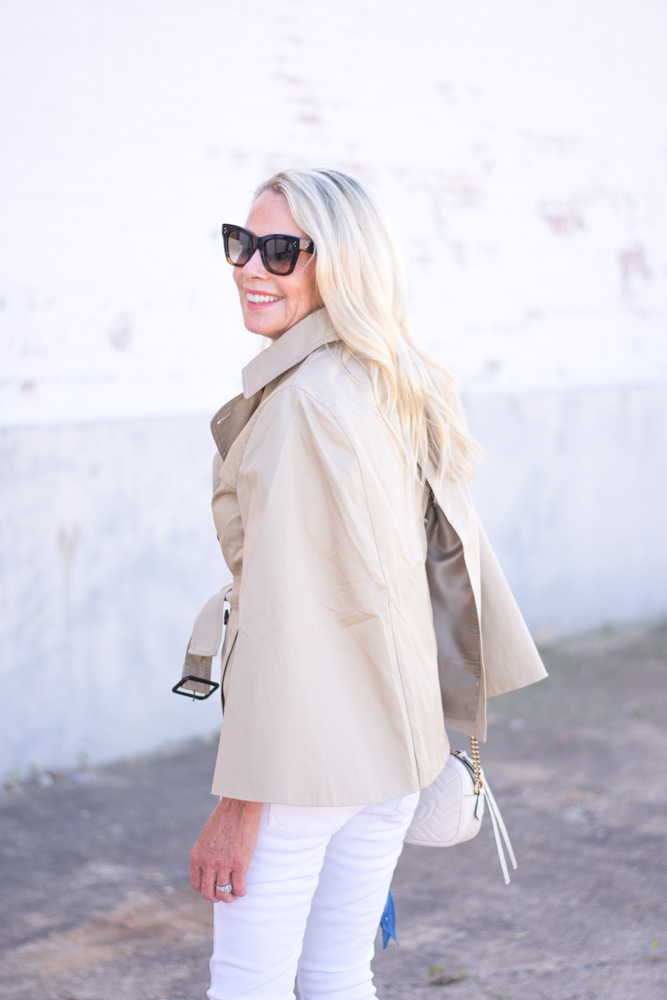 classics with a twist trench coat cape