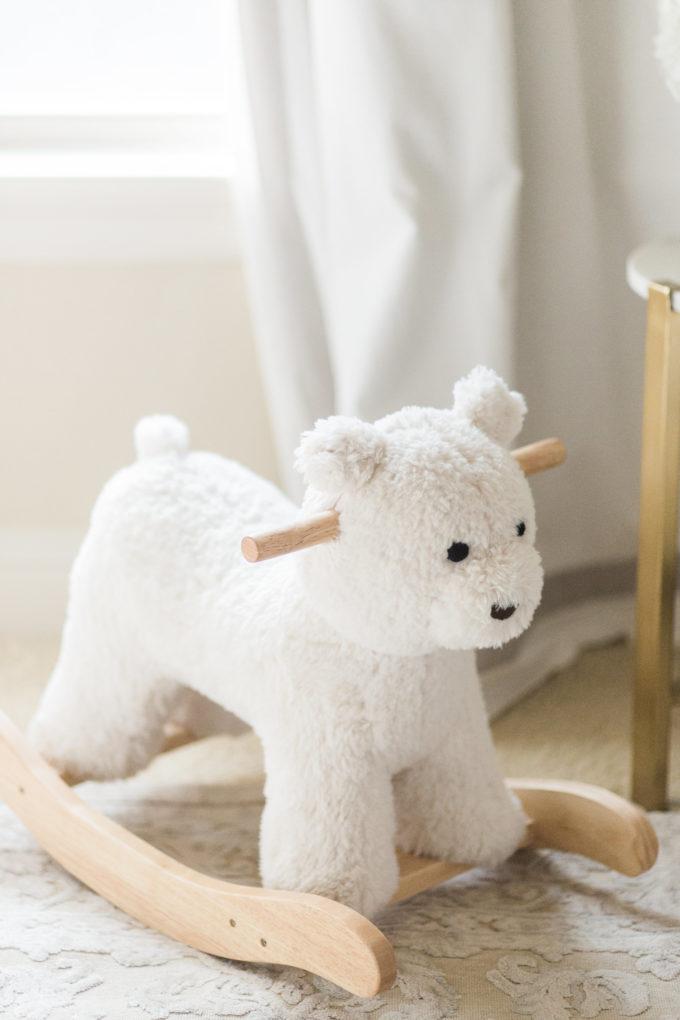 stuffed bear rocker