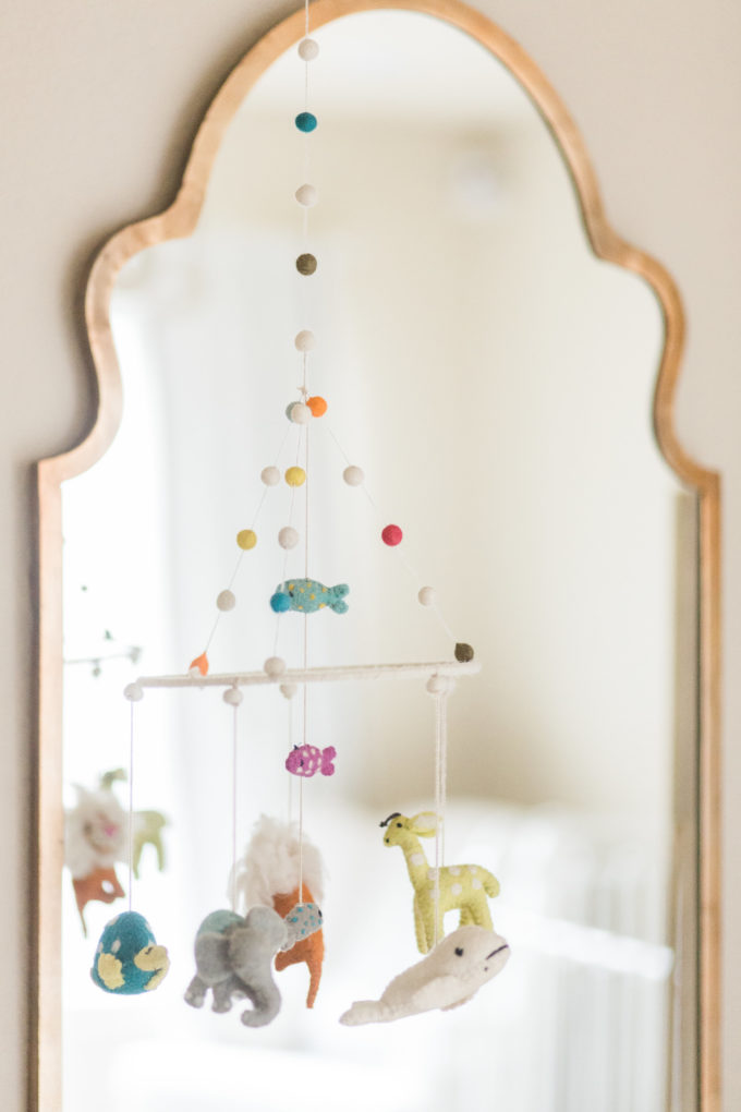nursery details mirror mobile