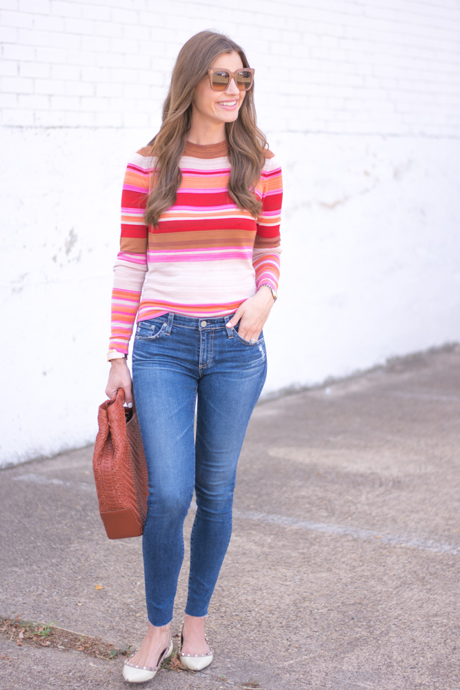 striped sweater jeans