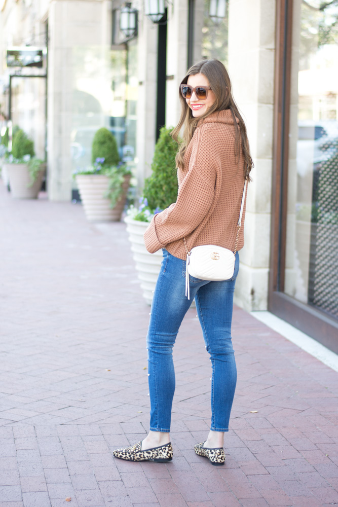 free people sweater white crossbody bag