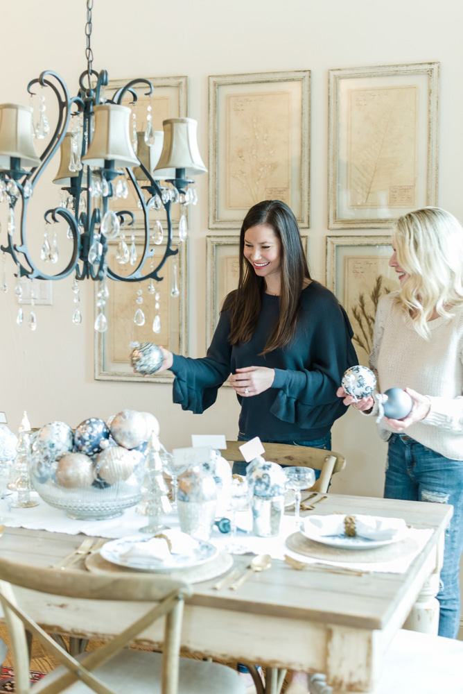 setting a holiday tablescape