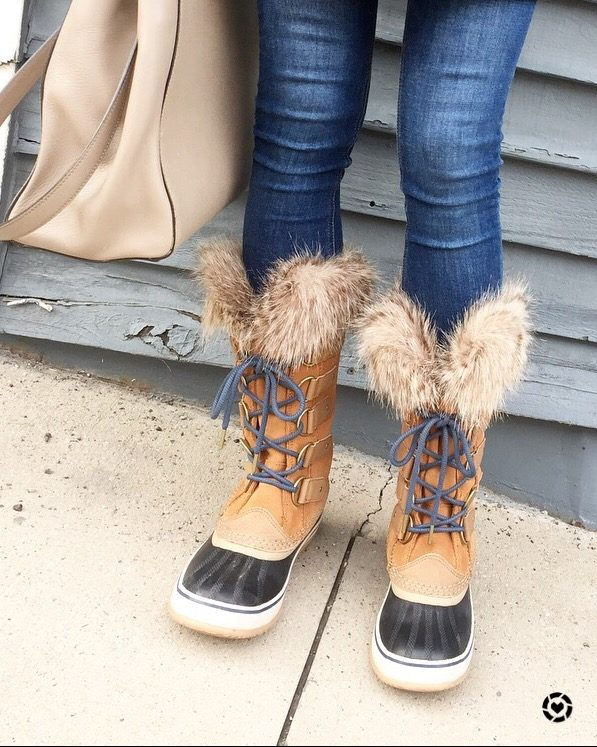 sorel fur trimmed boots