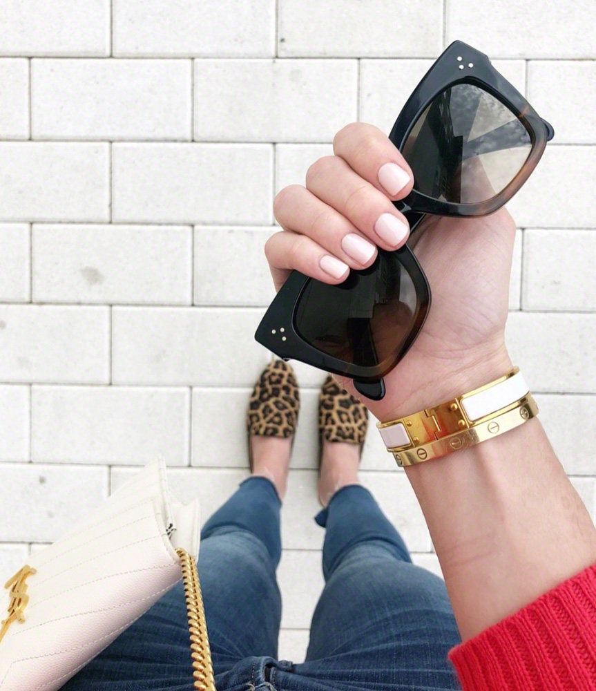 celine sunglasses leopard flats