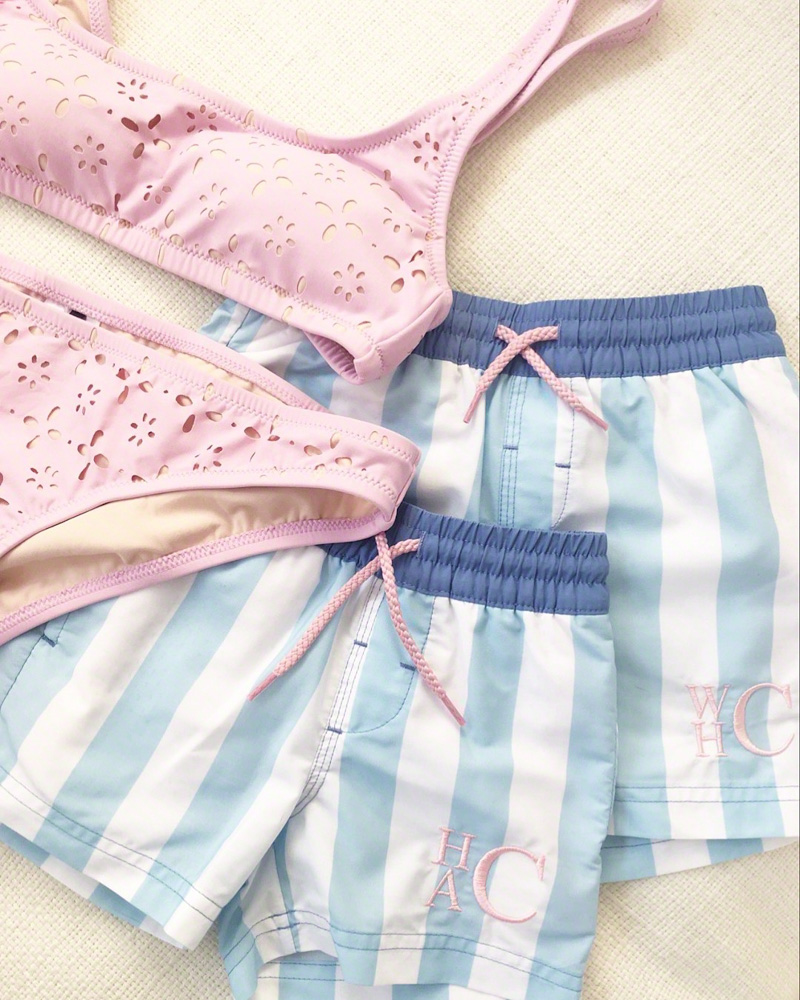 coordinating swimsuits for mom and boys