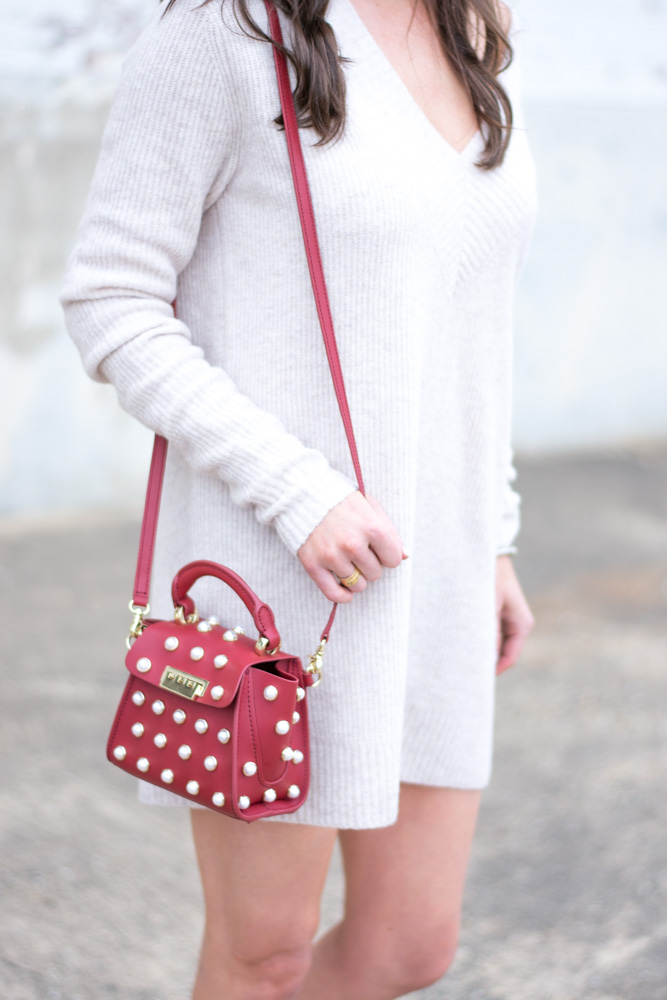 pearl embellished mini bag