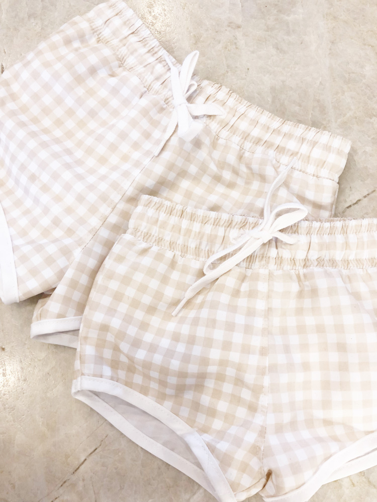 gingham toddler swimwear
