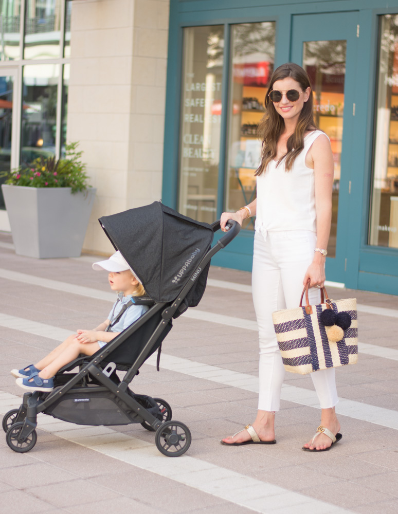 strolling with uppababy minu