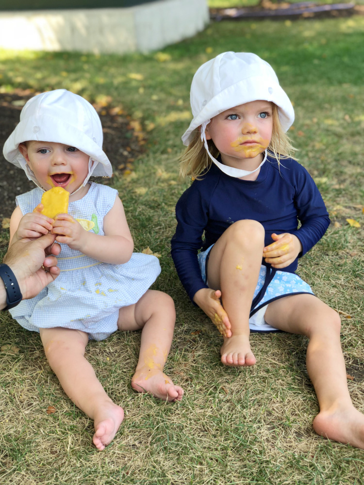 baby brothers eating popsicles