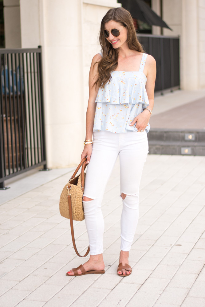 tiered cami top