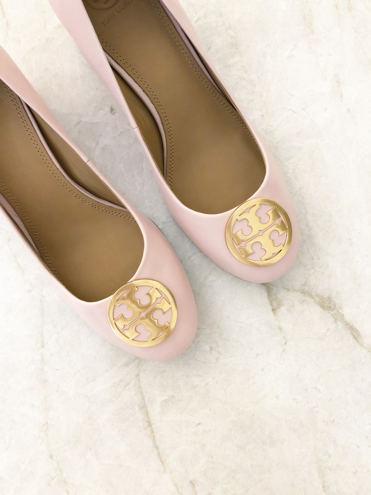 blush pink pumps