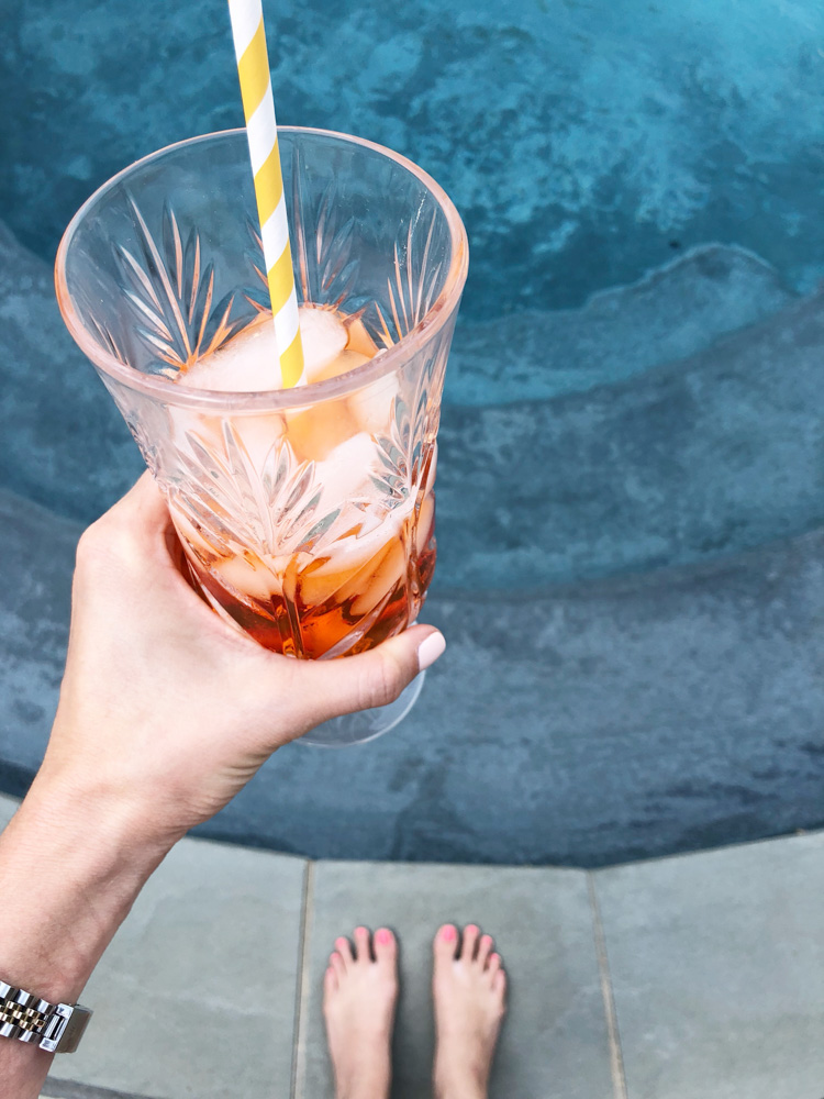 summer cocktail poolside