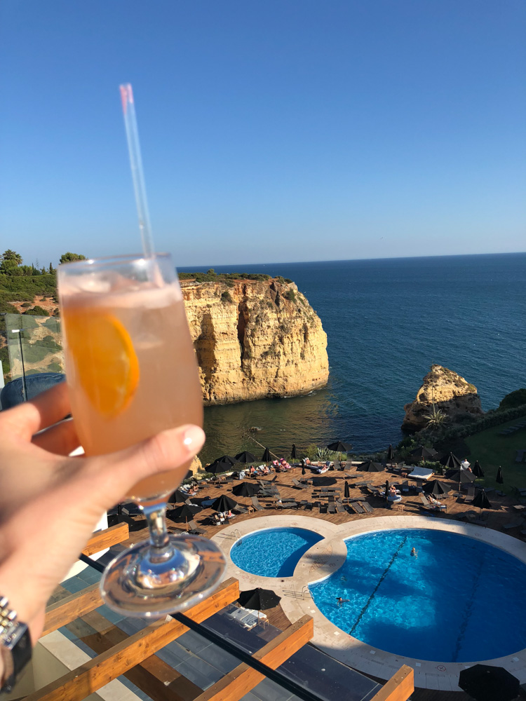 cocktail with sea view algarve portugal