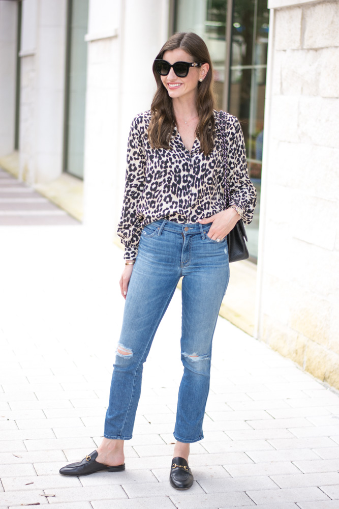 five leopard pieces we're loving leopard blouse
