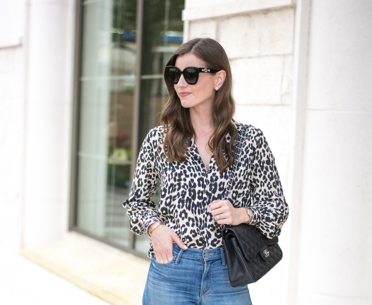 five leopard pieces we're loving black sunglasses