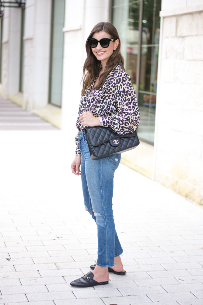 five leopard pieces we're loving leopard blouse black satchel