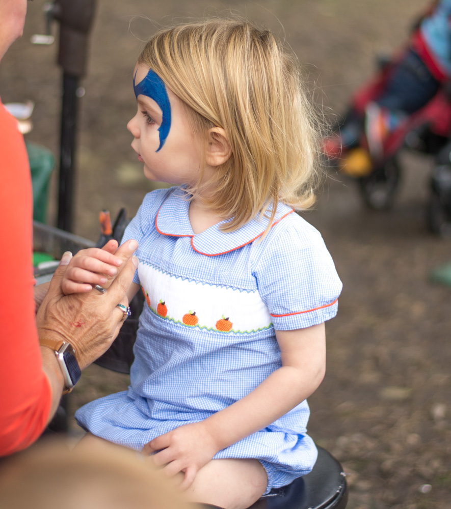 favorite fall activity in dallas face painting pumpkin village