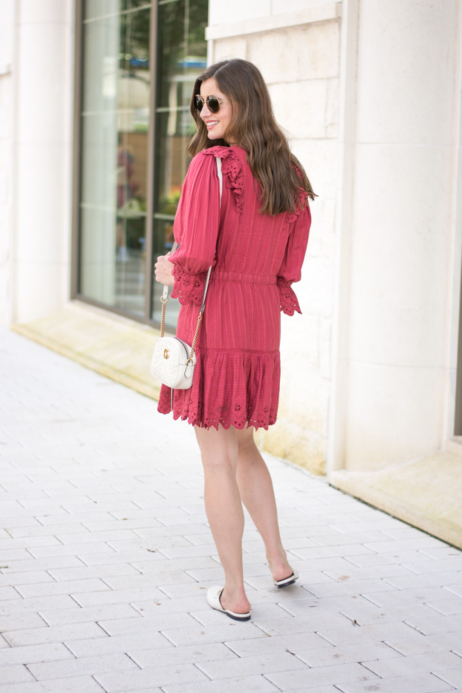 eyelet ruffle dress