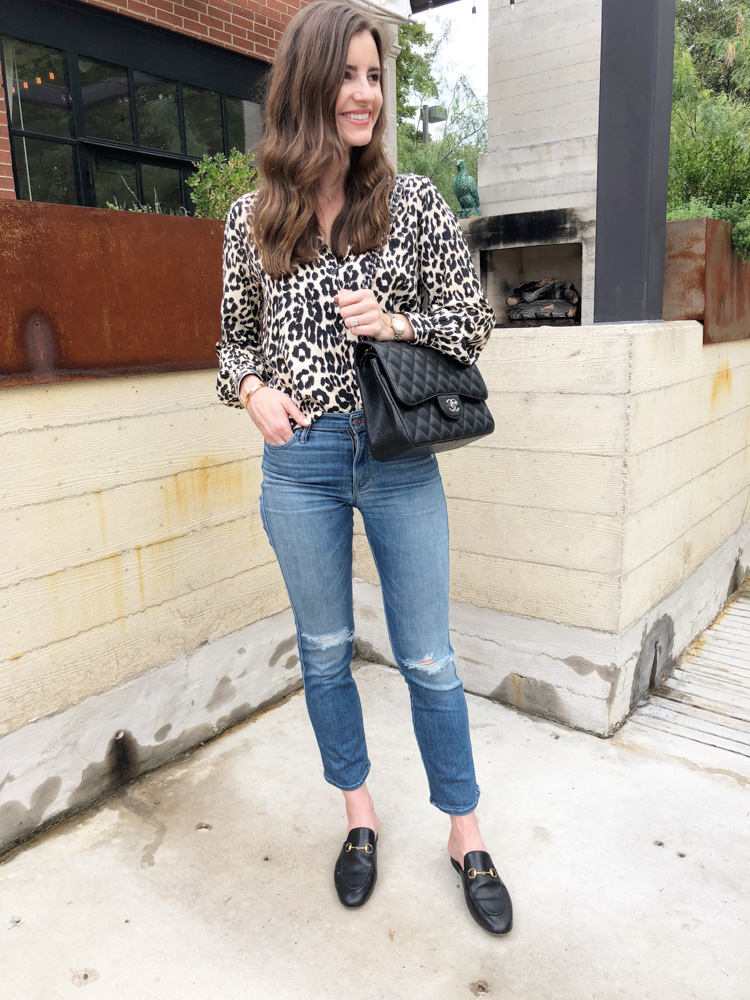 september in review leopard print top