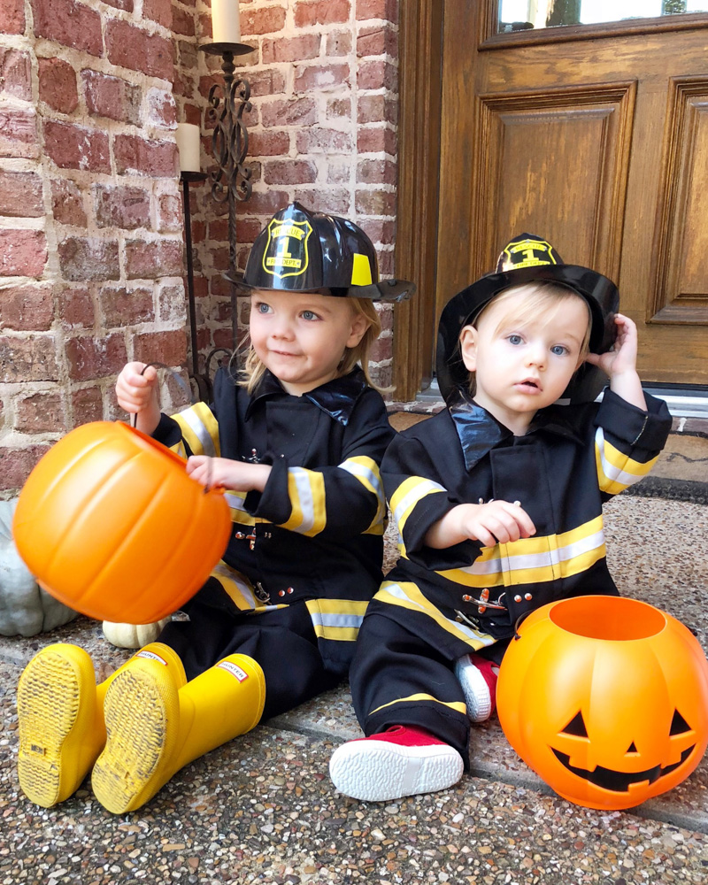 october in review toddler boys fireman costumes
