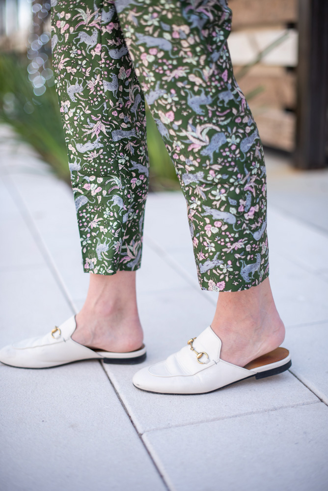 white mule loafers
