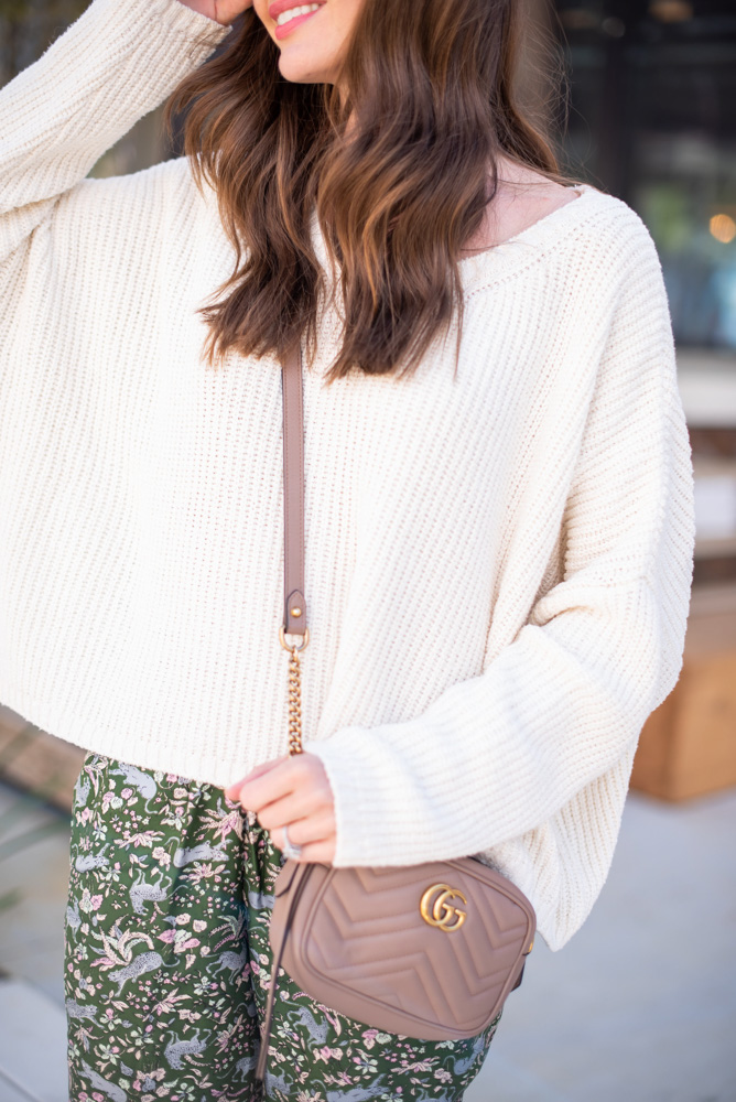white oversized sweater