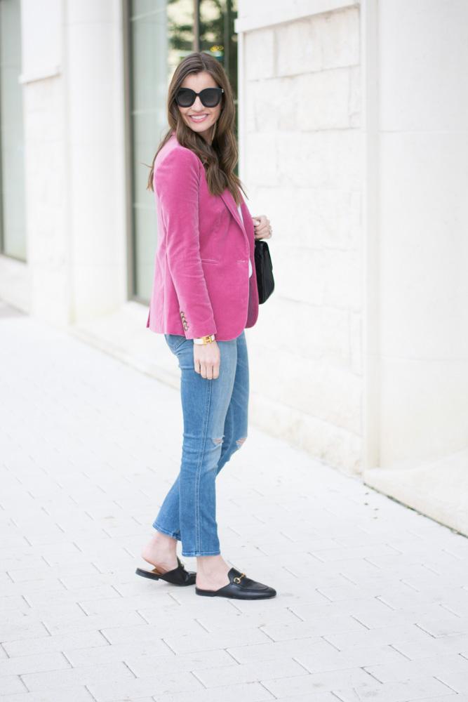 velvet blazer jeans