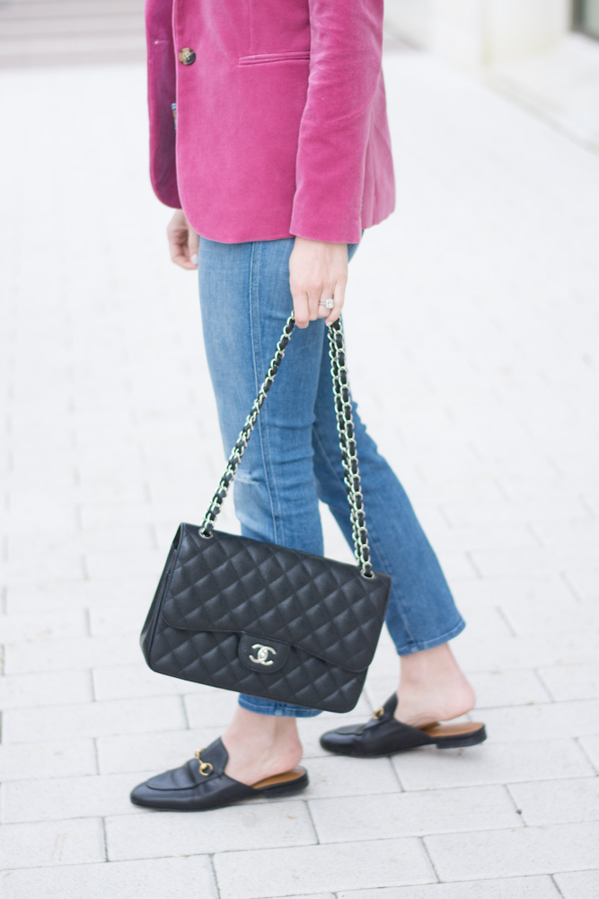 chanel handbag black loafer mules