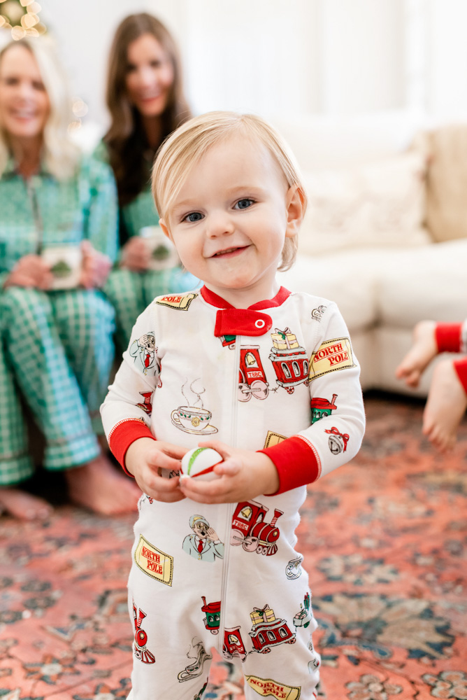 six favorite christmas traditions baby christmas pajamas