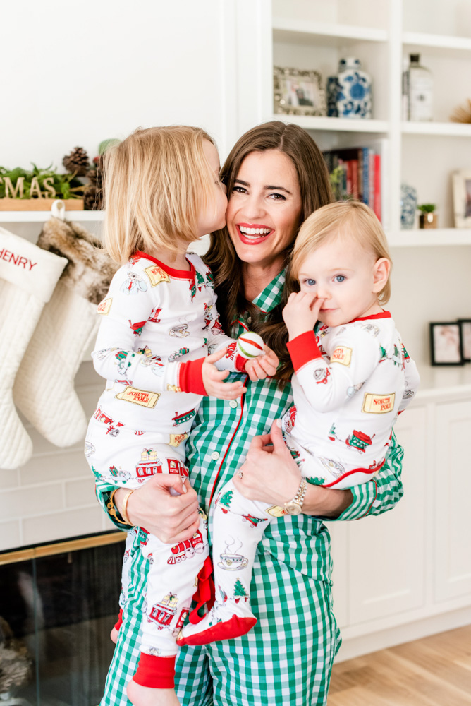 six favorite christmas traditions christmas pajamas mom and baby boys