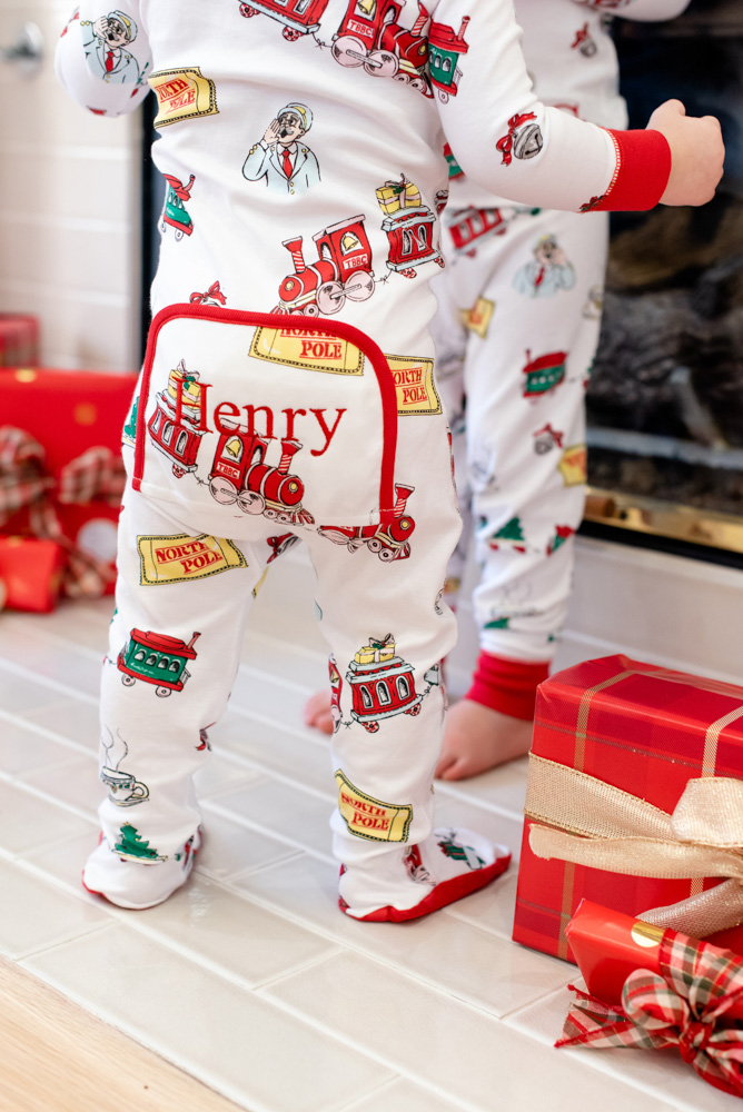 six favorite christmas traditions monogrammed christmas pajamas