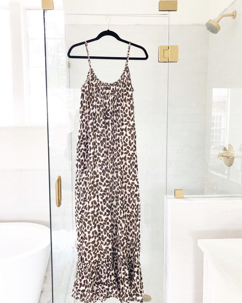 january in review leopard print sundress
