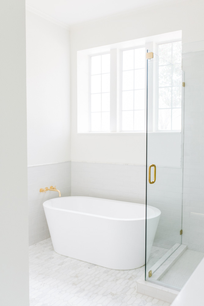 master bath reveal stand alone tub