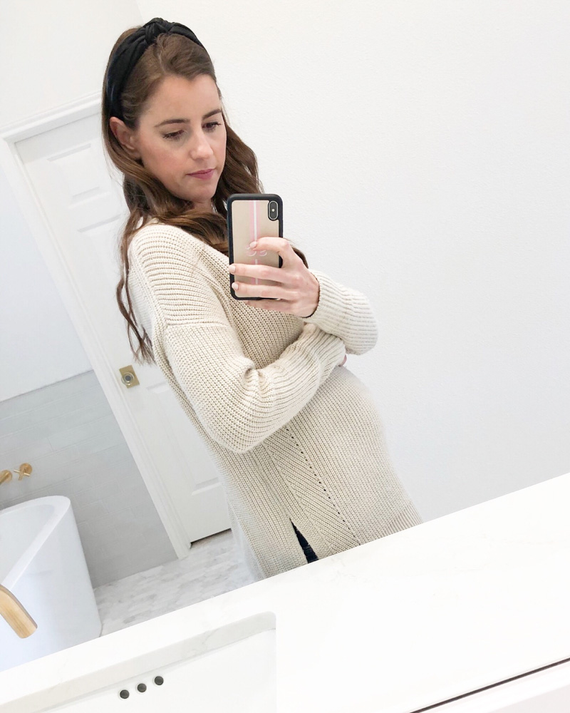 pregnancy bump ivory sweater