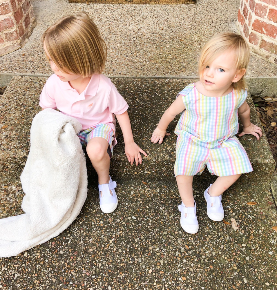 pastel plaid and pink polo white shoes toddle boys