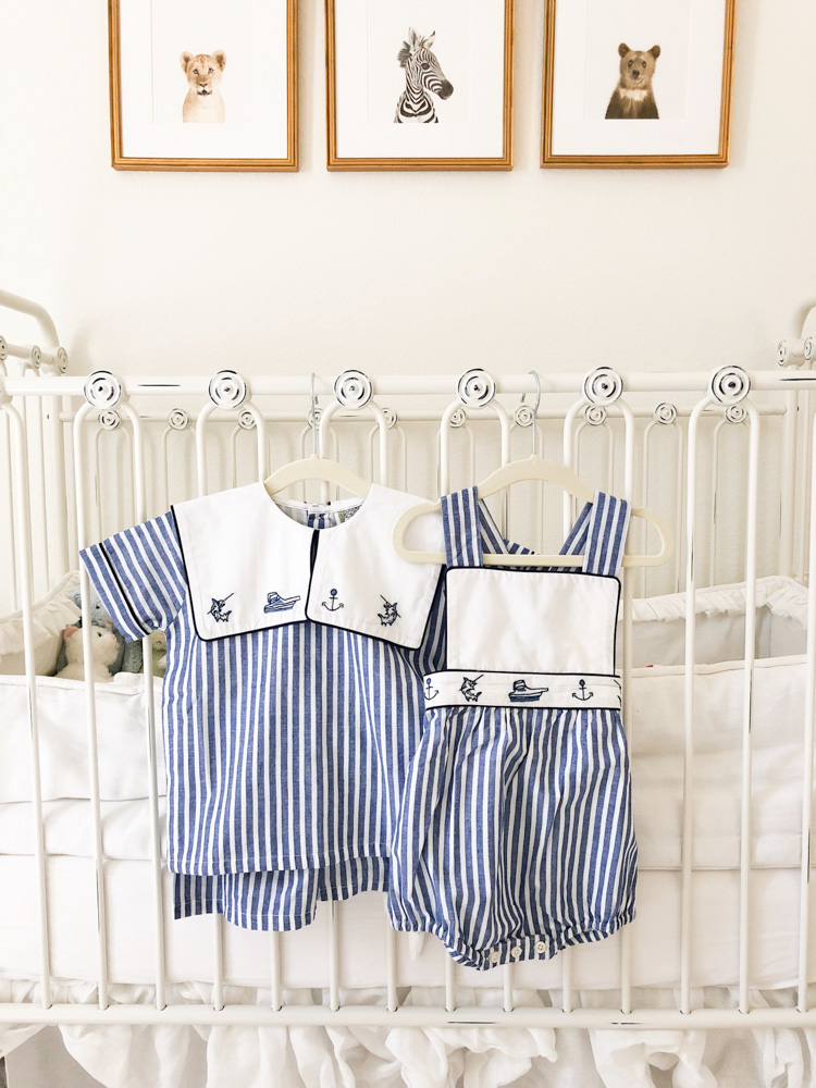 striped summer short set and bubble for toddler boys