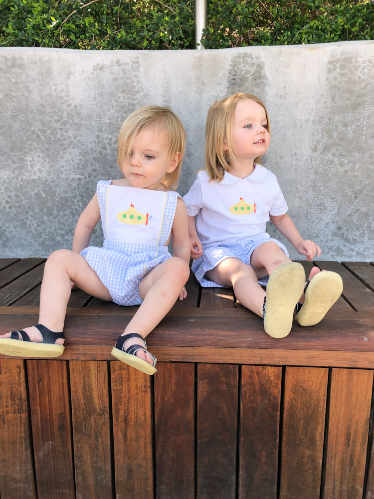 toddler boys summer clothes with yellow submarines