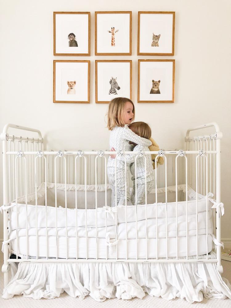 toddler boys pajamas in crib