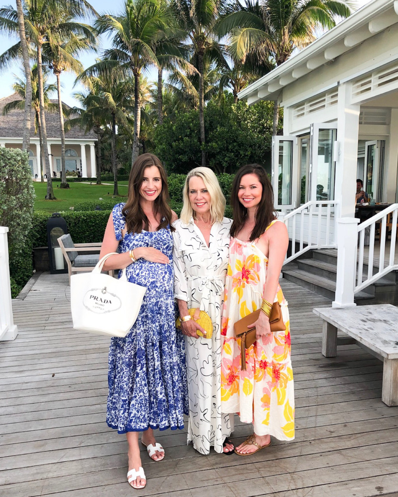 three women in maxi dresses