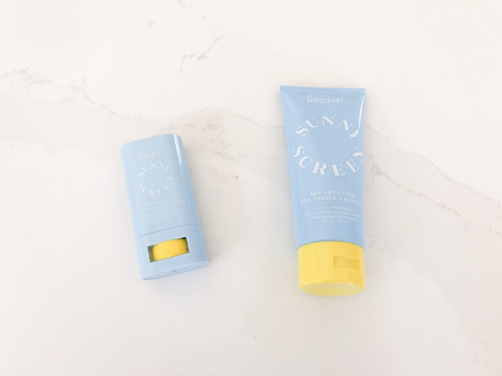 two containers kids sunscreen