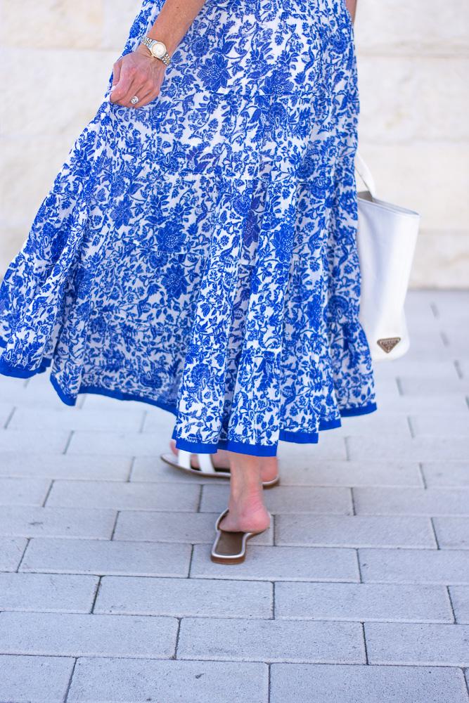 blue floral maxi dress
