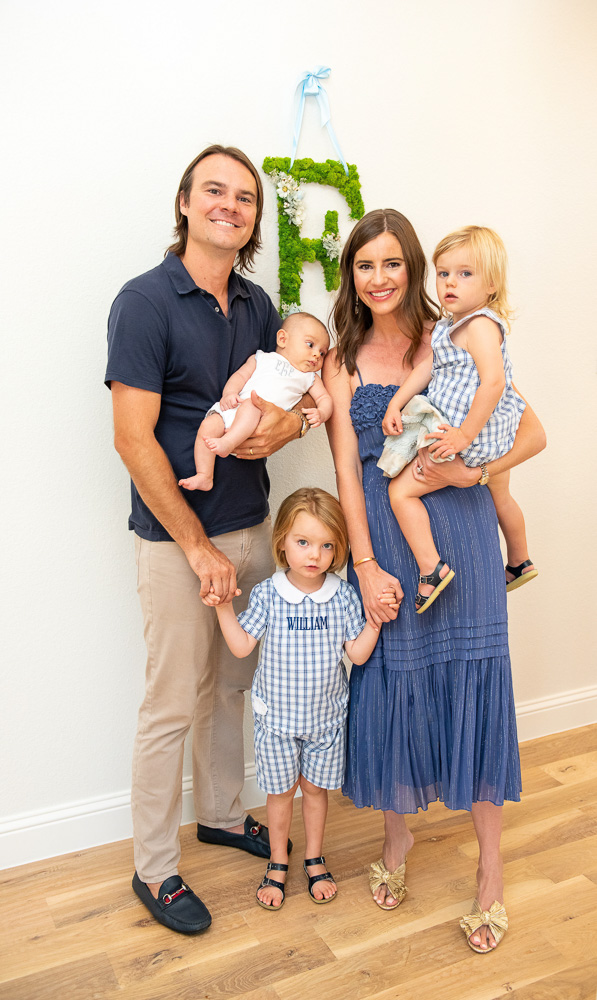 family of five at sip and see party