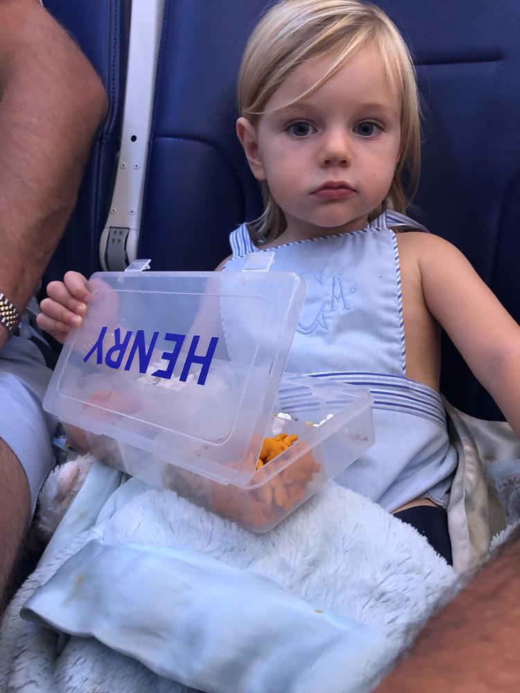 toddler boy airplane snack box