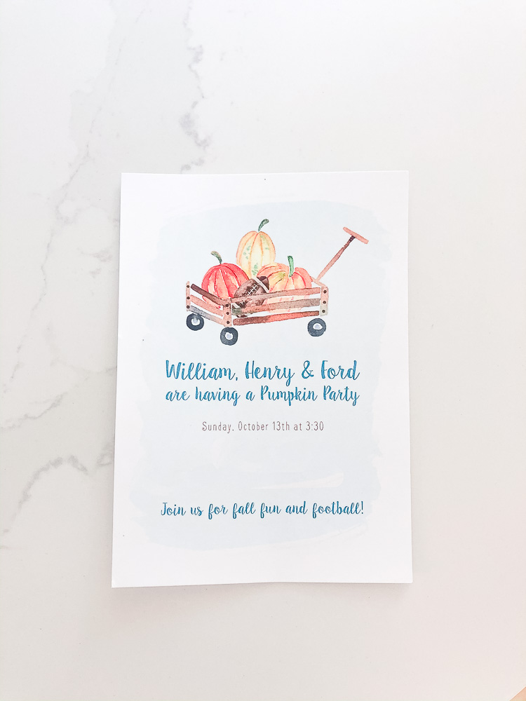 children's fall party invitation
