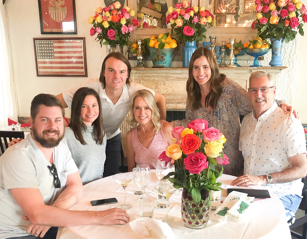 family at brunch at the ivy beverly hills