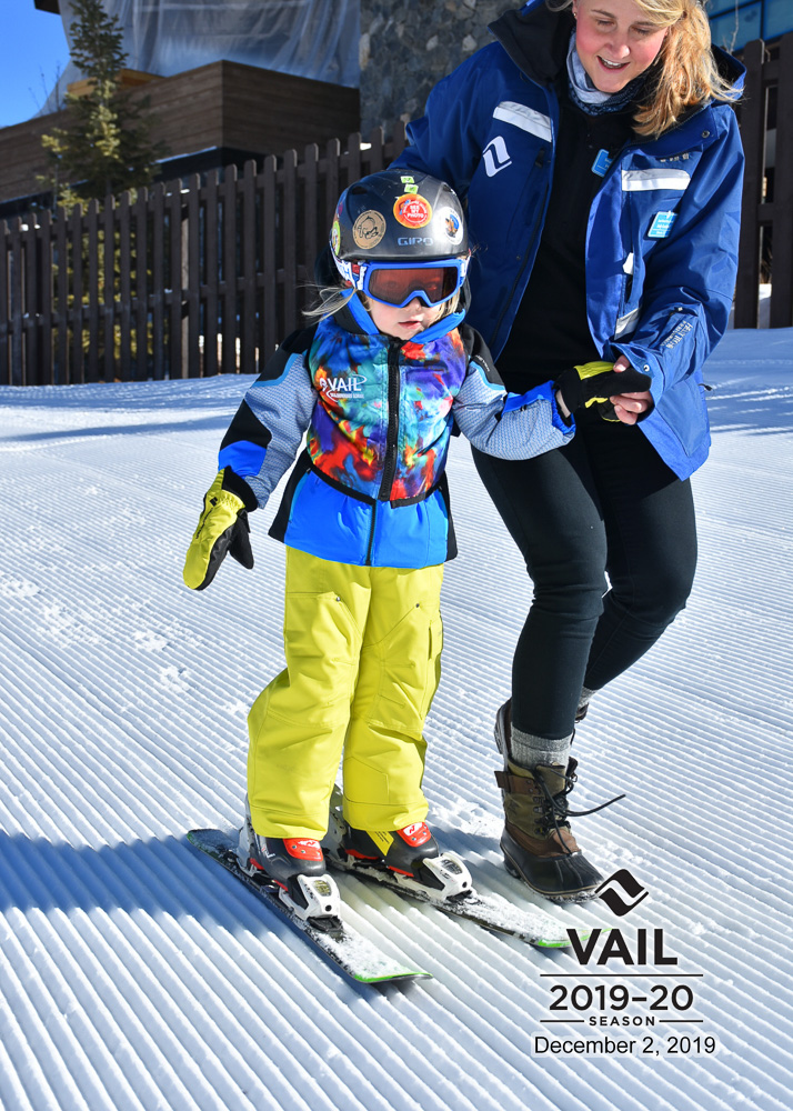 toddler learning to ski at vail
