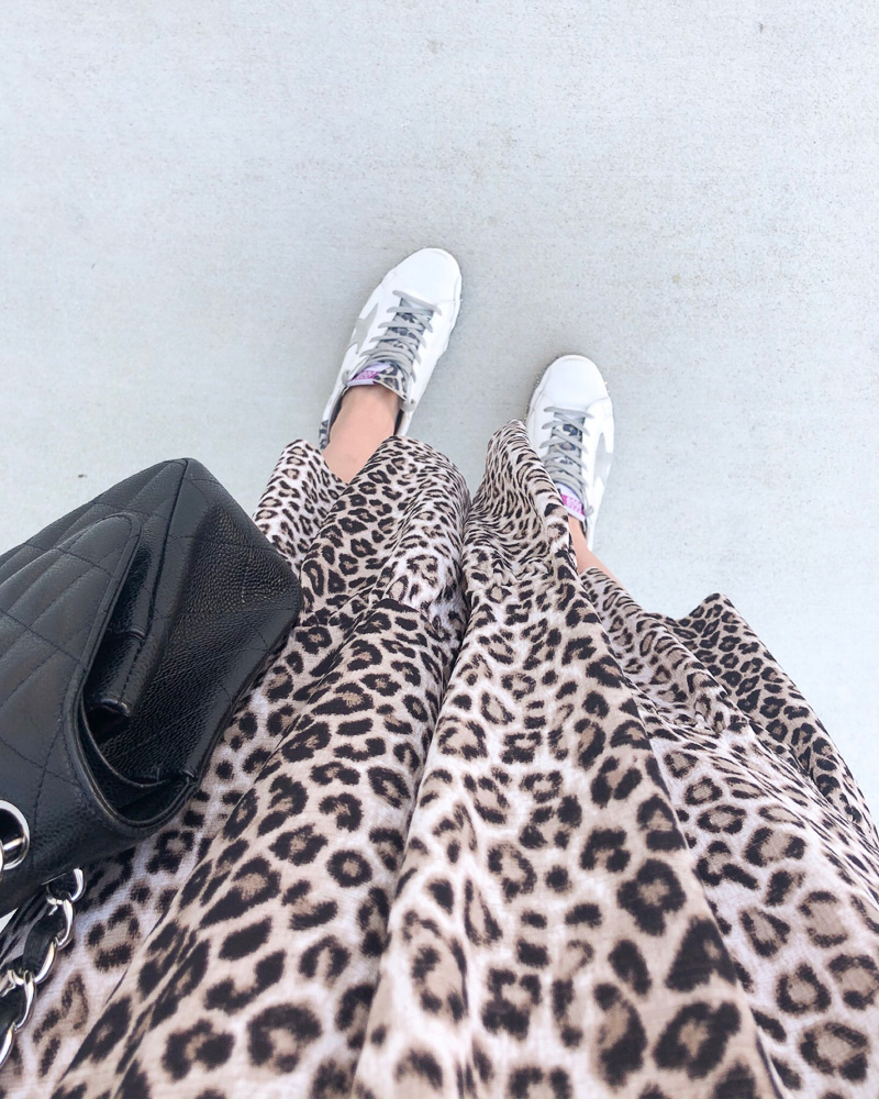 leopard dress golden goose sneakers