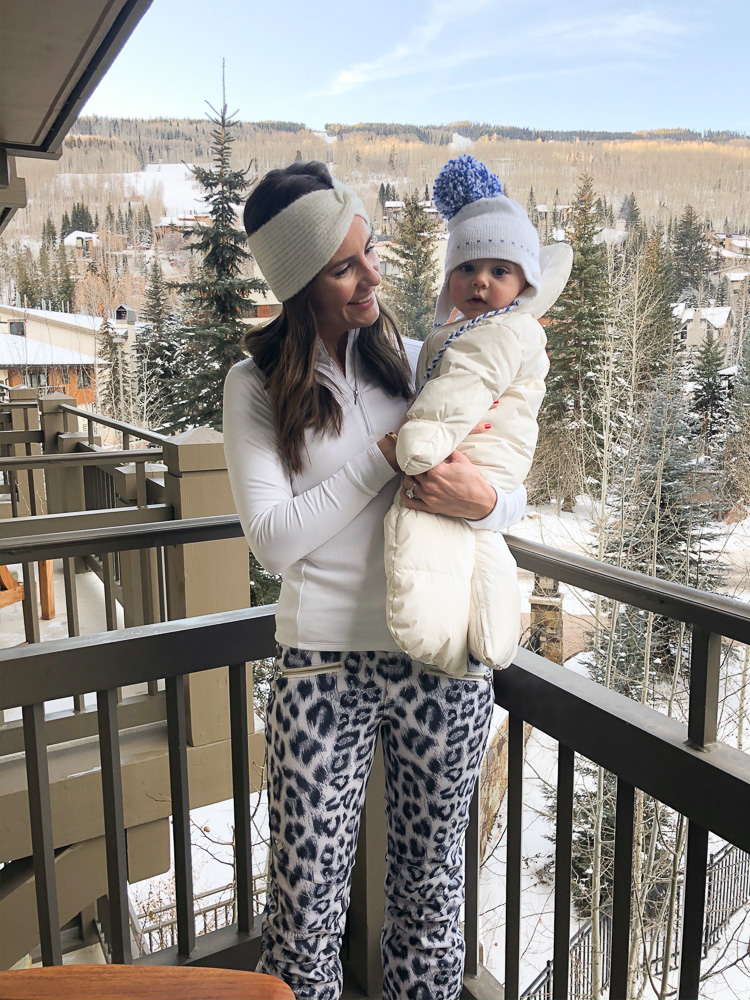 mom and baby at four seasons vail