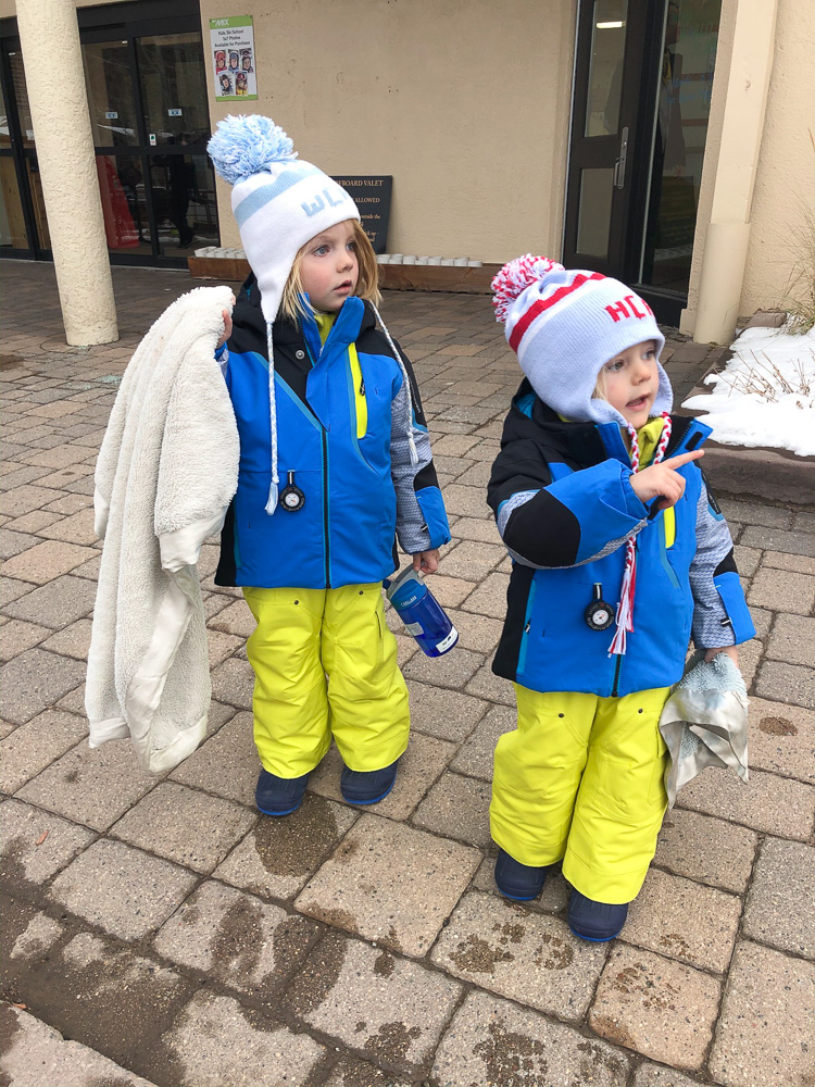 toddler boys dressed for winter